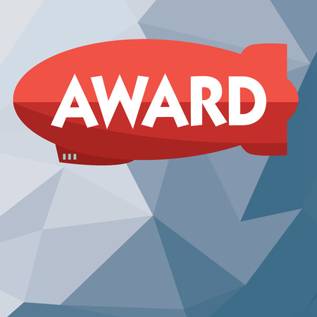 Writing note showing Award. Business photo showcasing Prize and other mark of recognition given in honor of an achievement. Stock Photo