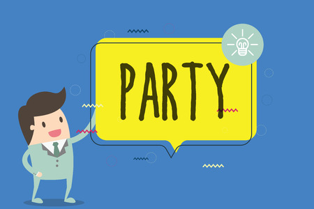 Text sign showing Party. Conceptual photo social gathering invited guests involve eating drinking entertainment.