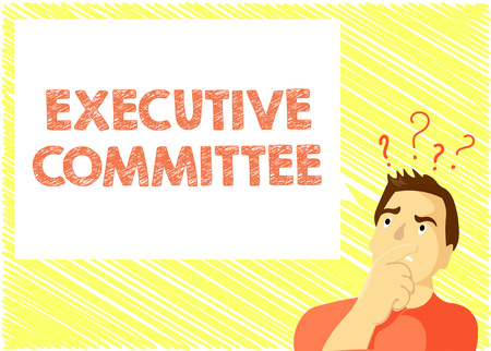 Word writing text Executive Committee. Business concept for Group of Directors appointed Has Authority in Decisions. 版權商用圖片