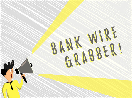 Word writing text Bank Wire Transfer. Business concept for Electronic transfer of money through bank to bank.