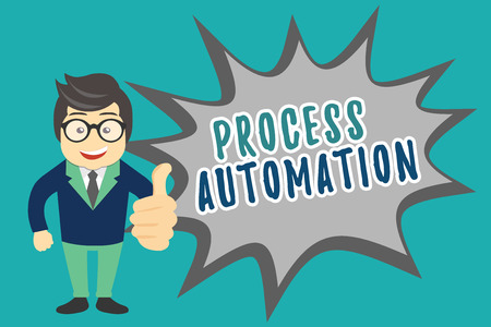Writing note showing Process Automation. Business photo showcasing Transformation Streamlined Robotic To avoid Redundancy. Stock Photo