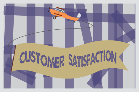 Writing note showing Customer Satisfaction. Business photo showcasing Exceed Consumer Expectation Satisfied over services.