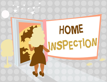 Writing note showing Home Inspection. Business photo showcasing Examination of the condition of a home related property. Stockfoto