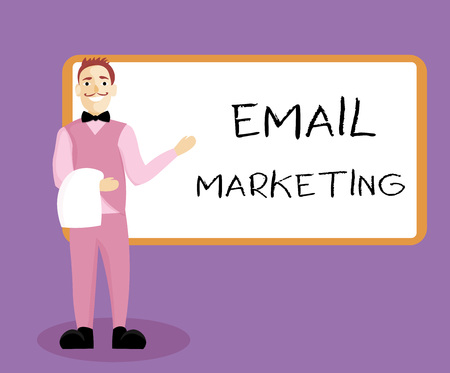 Writing note showing Email Marketing. Business photo showcasing Sending a commercial message to a group of people using mail. Stock Photo