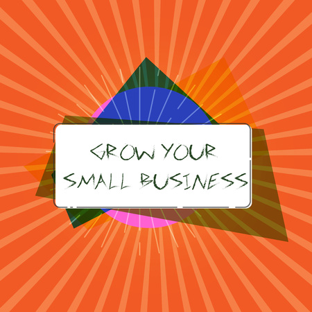 Conceptual hand writing showing Grow Your Small Business. Business photo showcasing company generates positive cash flow Earn. Banco de Imagens - 109140872
