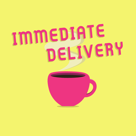 Znak tekstowy pokazujący natychmiastową dostawę. Zdjęcie koncepcyjne Wyślij teraz Niestandardowa procedura szybkiego usuwania.