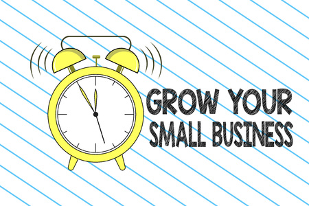 Writing note showing Grow Your Small Business. Business photo showcasing company generates positive cash flow Earn. Banco de Imagens - 109143353