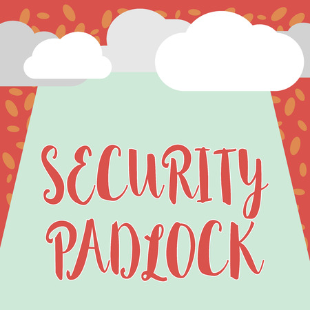 Writing note showing Security Padlock. Business photo showcasing hardened steel body and double locking shackle of extra one. Stock Photo