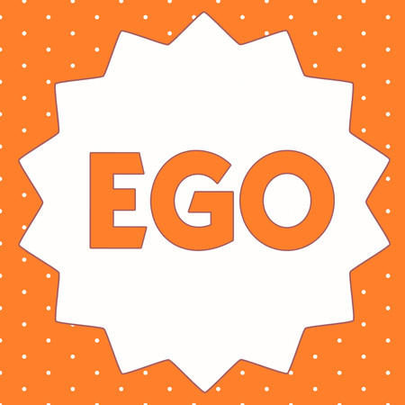 Conceptual hand writing showing Ego. Business photo showcasing Sense of selfesteem selfworth of a person Conscious thinking matter.