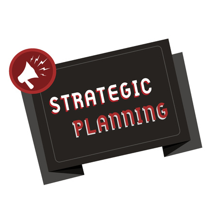 Text sign showing Strategic Planning. Conceptual photo Organizational Management Activity Operation Priorities. Banque d'images