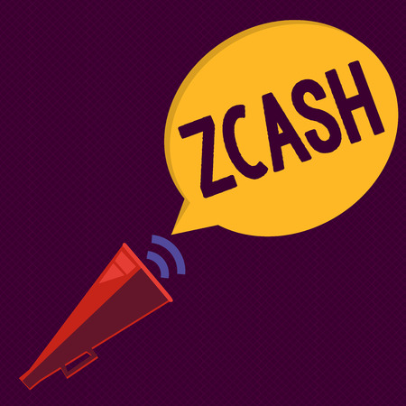 Writing note showing Zcash. Business photo showcasing cryptocurrency with decentralized blockchain that provides anonymity.