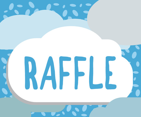 Writing note showing Raffle. Business photo showcasing means of raising money by selling numbered tickets offer as prize. Foto de archivo - 109154808