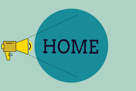 Handwriting text writing Home. Concept meaning place where one lives permanently Born Country Family friends exist.