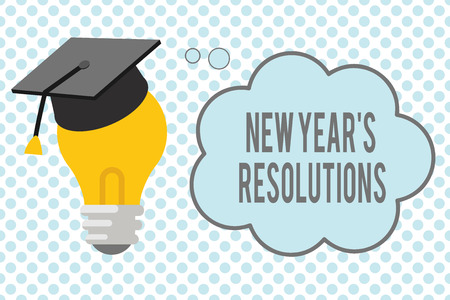 Conceptual hand writing showing New Year s is Resolutions. Business photo showcasing Wishlist List of things to accomplish or improve.