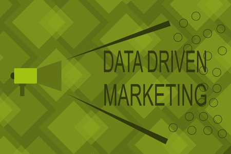 Writing note showing Data Driven Marketing. Business photo showcasing Strategy built on Insights Analysis from interactions.