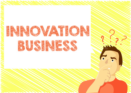 Word writing text Innovation Business. Business concept for Introduce New Ideas Workflows Methodology Services.