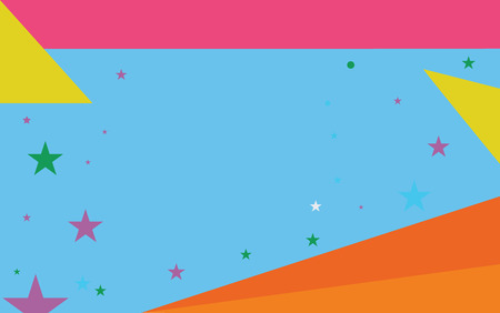 Flat design business Vector Illustration concept template copy space text for Ad website esp isolated 3d isometric. Starry Pattern of Scattered Little Stars like Colorful Confetti in the sky Иллюстрация