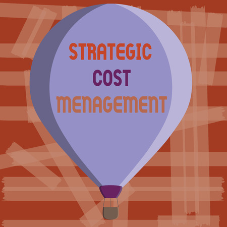 Writing note showing Strategic Cost Management. Business photo showcasing combining Decision Making with Expenses Budgeting. Imagens