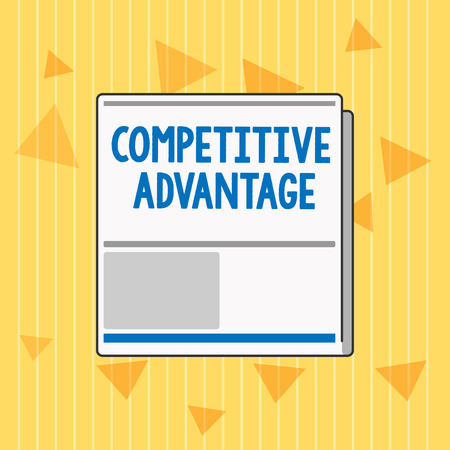 Handwriting text Competitive Advantage. Concept meaning Company Edge over another Favorable Business Position. Stock Photo