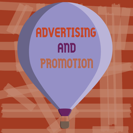 Writing note showing Advertising And Promotion. Business photo showcasing Controlled and Paid marketing activity in media. Stock Photo