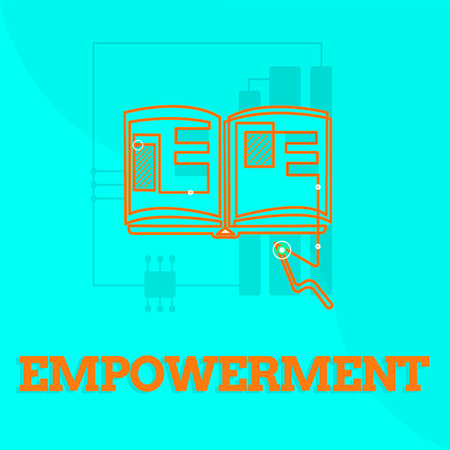 Text sign showing Empowerment. Conceptual photo Authority or power given to someone for doing something. Stock Photo