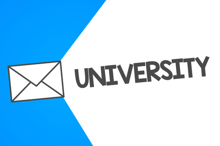 Handwriting text University. Concept meaning Highlevel educational institution students study for degrees.