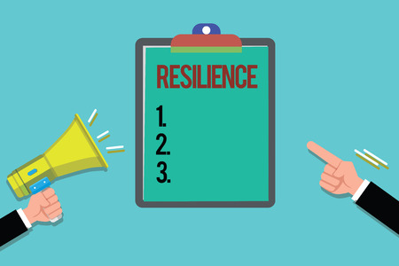 Word writing text Resilience. Business concept for Capacity to recover quickly from difficulties Persistence.