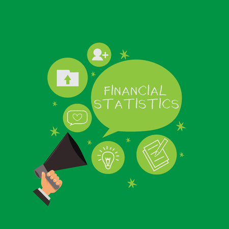 Conceptual hand writing showing Financial Statistics. Business photo text Comprehensive Set of Stock and Flow Data of a company. Stock fotó