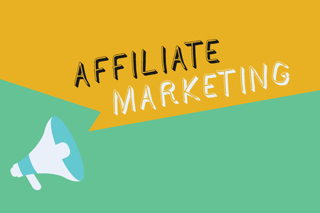 Conceptual hand writing showing Affiliate Marketing. Business photo showcasing Promoting another demonstratings product Earning a Commission.