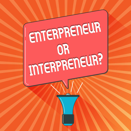Conceptual hand writing showing Entrepreneur Or Intrepreneur question. Business photo showcasing New Breed of Producer within a Company. Stock fotó