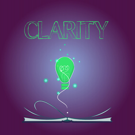 Word writing text Clarity. Business concept for Being coherent intelligible Understandable Clear ideas Precision.