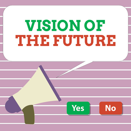 Handwriting text Vision Of The Future. Concept meaning Seeing something Ahead a Clear Guide of Action. Stok Fotoğraf