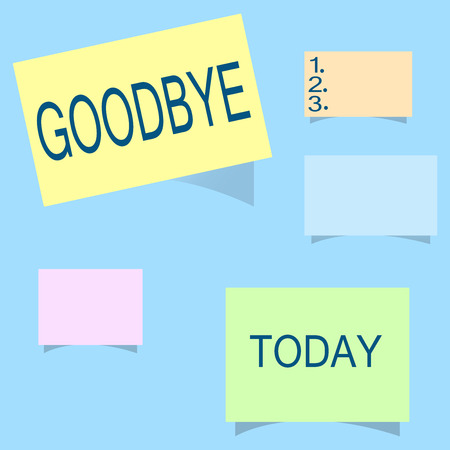 Word writing text Goodbye. Business concept for Greeting for leaving Farewell See you soon Separation salute.