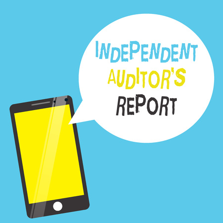 Word writing text Independent Auditor s is Report. Business concept for analyze Accounting and Financial Practices. Stock Photo