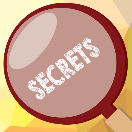 Writing note showing Secrets. Business photo showcasing Kept unknown by others Confidential Private Classified Unrevealed.
