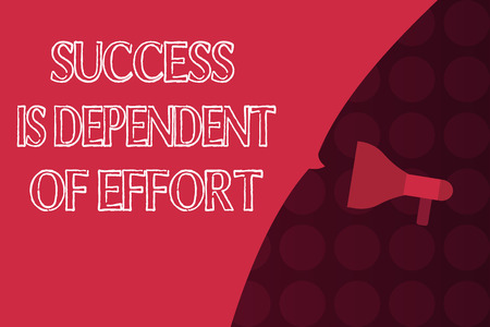 Word writing text Success Is Dependent Of Effort. Business concept for Make effort to Succeed Stay Persistent. Stock Photo