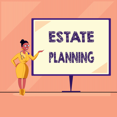 Word writing text Estate Planning. Business concept for The management and disposal of that person's estate. Stock Photo - 109594714