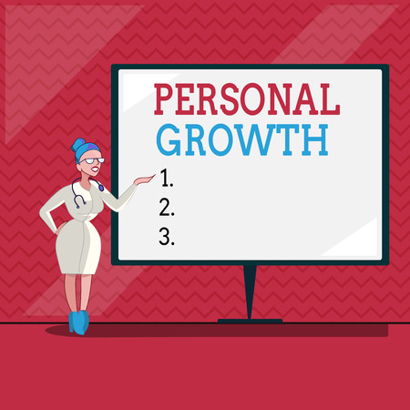 Word writing text Personal Growth. Business concept for improve develop your skills qualities Learn new materials.
