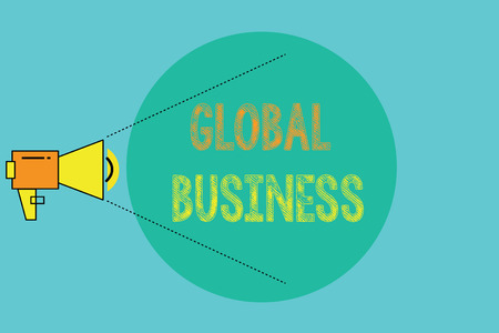 Conceptual hand writing showing Global Business. Business photo showcasing Trade and business system a company doing across the world.