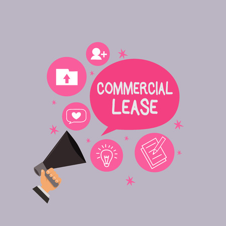 Word writing text Commercial Lease. Business concept for refers to buildings or land intended to generate a profit.