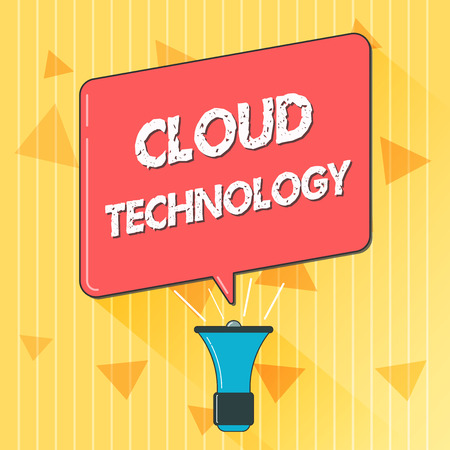 Handwriting text Cloud Technology. Concept meaning storing and accessing data and programs over Internet.