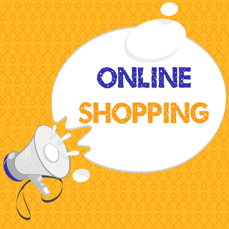 Handwriting text Online Shopping. Concept meaning allows consumers to buy their goods over the Internet. Stock Photo