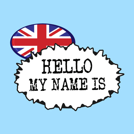 Word writing text Hello My Name Is. Business concept for introducing yourself to new people workers as Presentation. Stok Fotoğraf