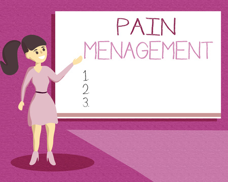 Handwriting text writing Pain Management. Concept meaning a branch of medicine employing an interdisciplinary approach. Stock Photo - 109610660