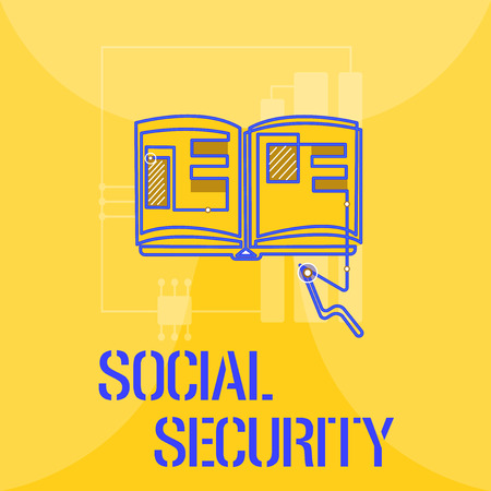 Word writing text Social Security. Business concept for assistance from state people with inadequate or no income.