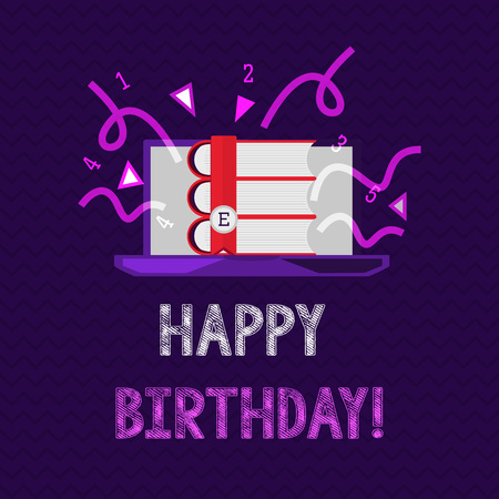 Handwriting text Happy Birthday. Concept meaning The birth anniversary of a person is celebrated with presents.