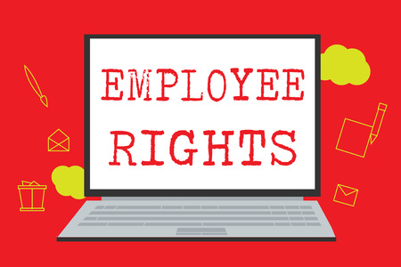Text sign showing Employee Rights. Conceptual photo All employees have basic rights in their own workplace. Archivio Fotografico - 109607388