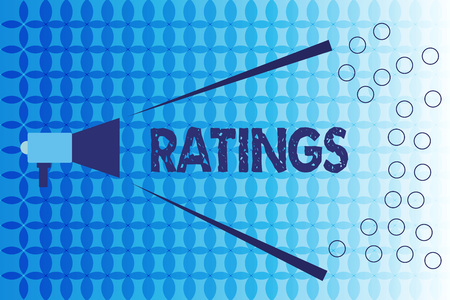 Word writing text Ratings. Business concept for Classification Ranking Quality Perforanalysisce Standards comparison.