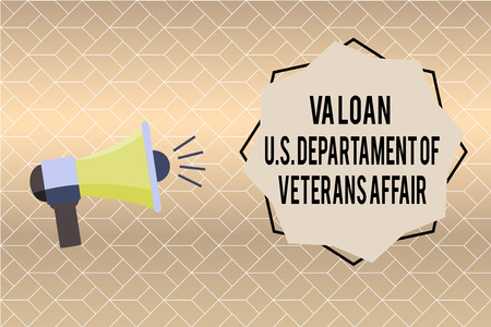 Handwriting text writing Va Loan U.S Departament Of Veterans Affairs. Concept meaning Armed forces financial aid.