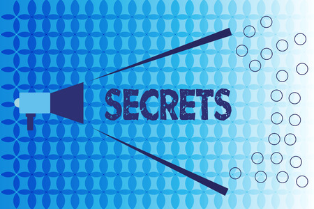 Word writing text Secrets. Business concept for Kept unknown by others Confidential Private Classified Unrevealed. Stock Photo